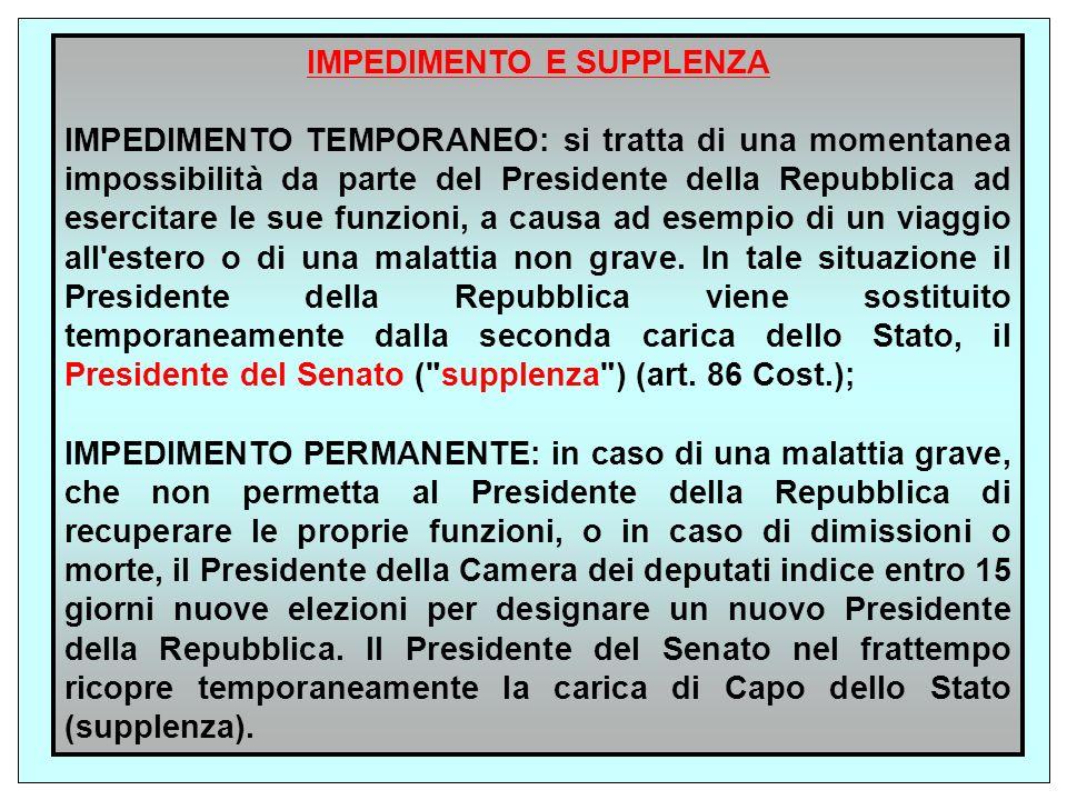 Il mandato, cioè l incarico del Presidente, dura sette anni (art.