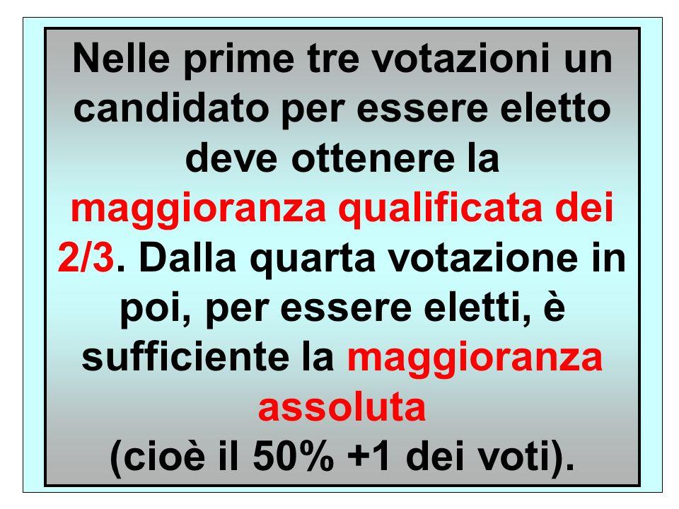 Il Presidente della Repubblica è eletto dal Parlamento in seduta comune, cui si aggiungono tre rappresentanti scelti da ogni Consiglio regionale (la Val d Aosta può delegare un solo rappresentante) (art.