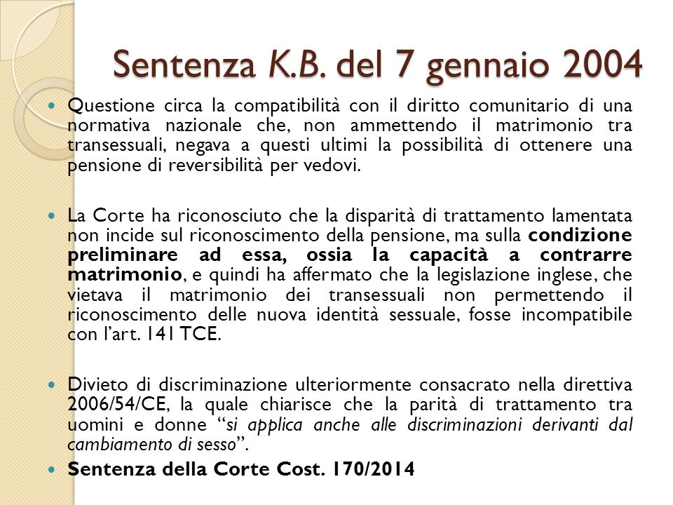 Sentenza K.B.
