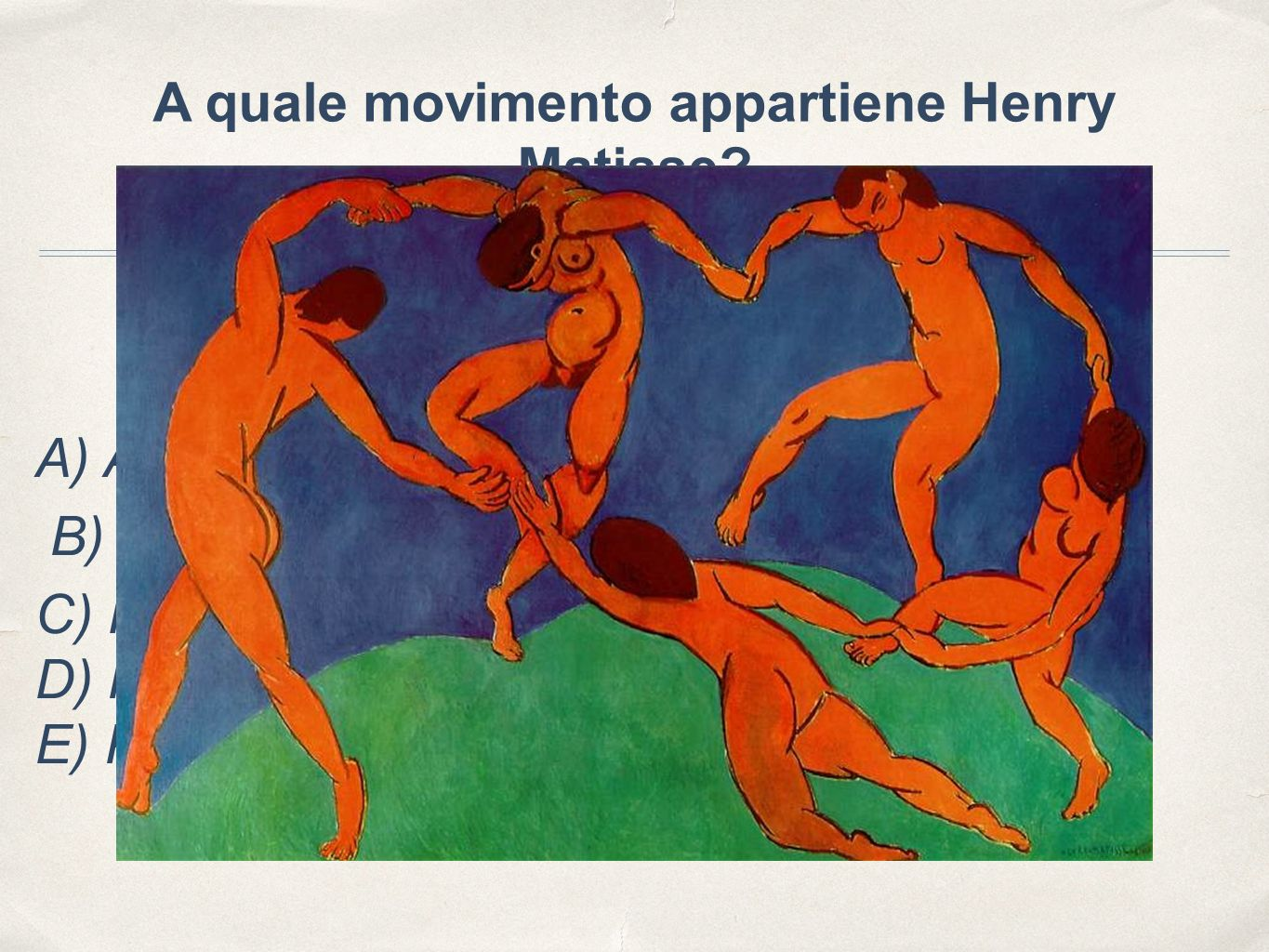 A quale movimento appartiene Henry Matisse.