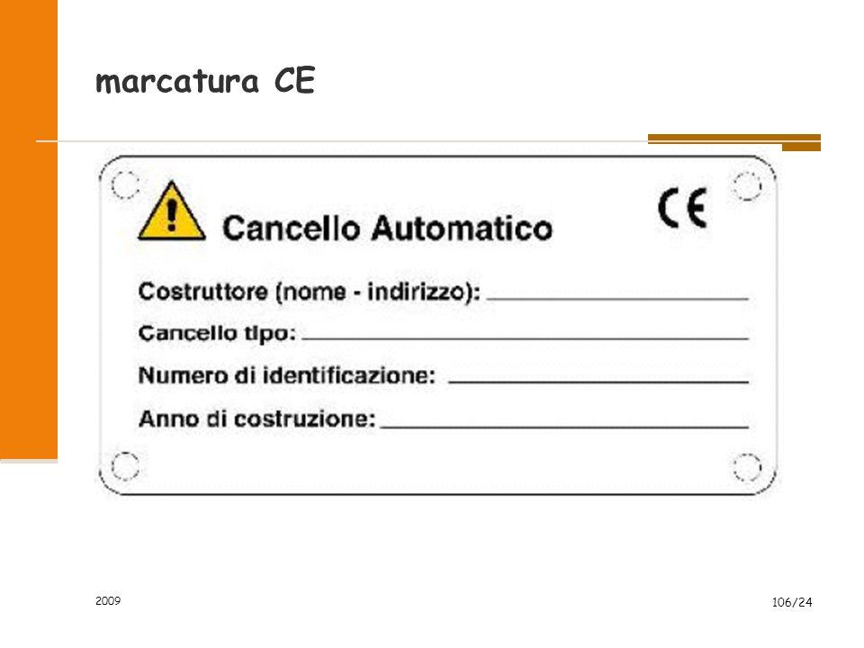 marcatura CE 2009 106/24