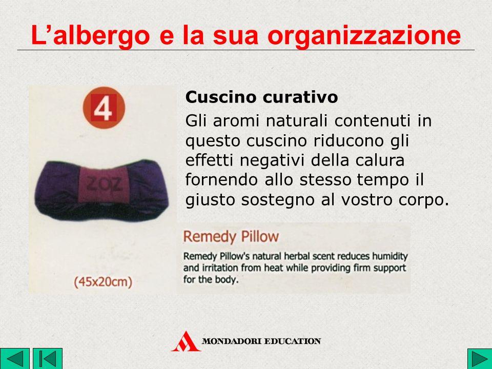 Cuscino curativo Gli aromi naturali contenuti in questo cuscino riducono gli effetti negativi della calura fornendo allo stesso tempo il giusto sostegno al vostro corpo.