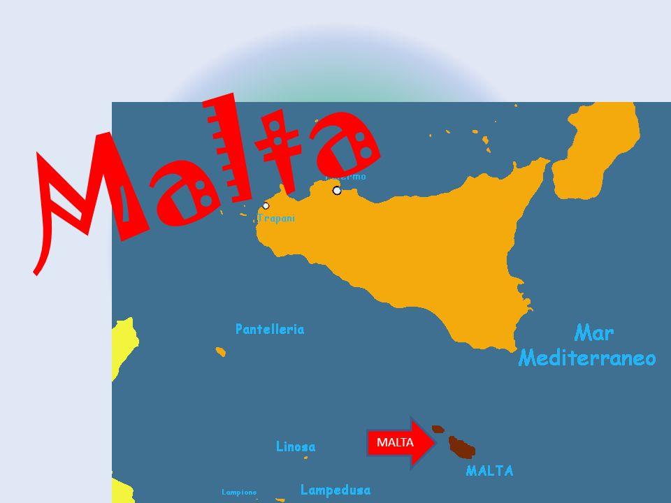 Posizione Malta si trova nel Mediterraneo sotto l'Italia (a circa 90km dalla costa della Sicilia) Confini Malta confina soltanto con il Mediterraneo è la 95 isola più grande d'Europa