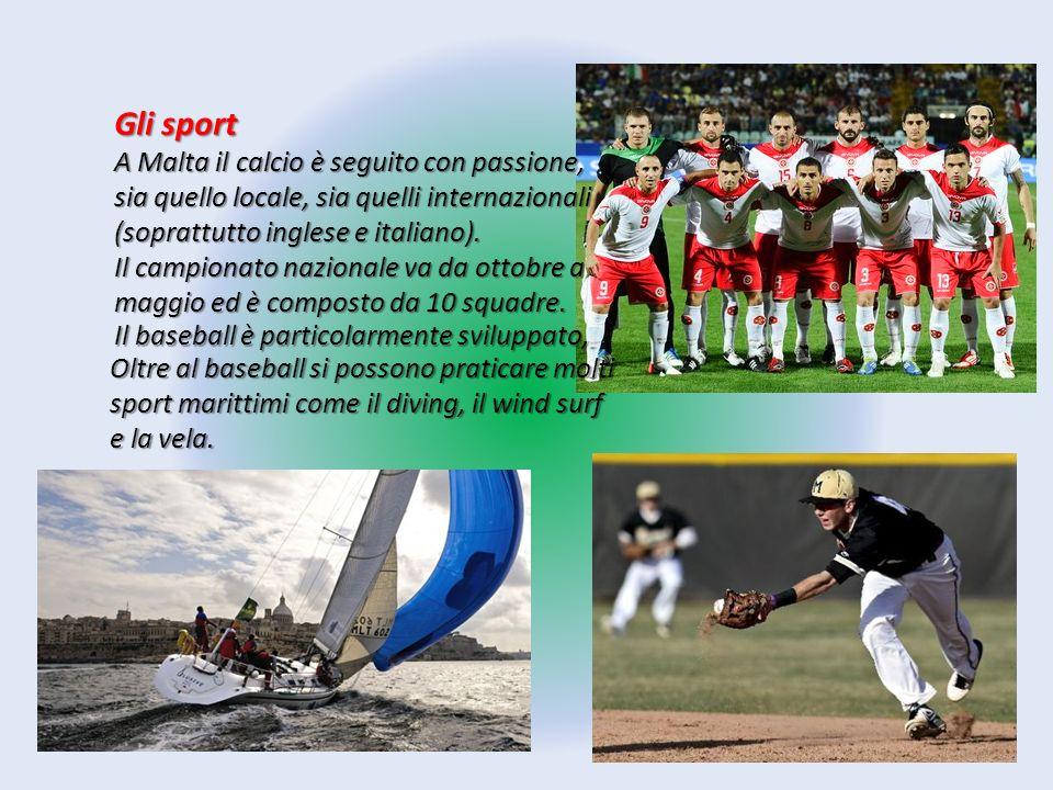 Il baseball è particolarmente sviluppato, Oltre al baseball si possono praticare molti sport marittimi come il diving, il wind surf e la vela. Gli spo