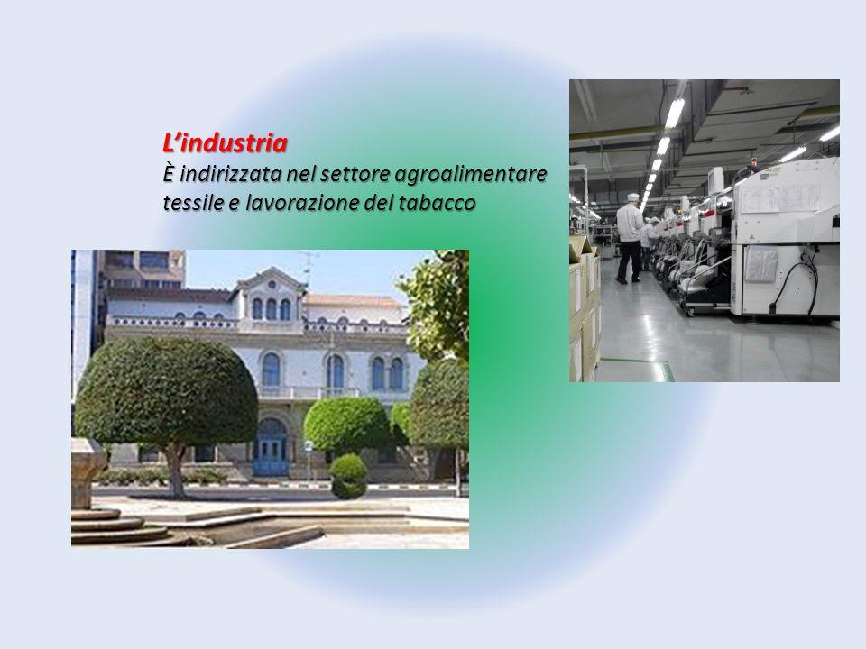 L'industria È indirizzata nel settore agroalimentare tessile e lavorazione del tabacco
