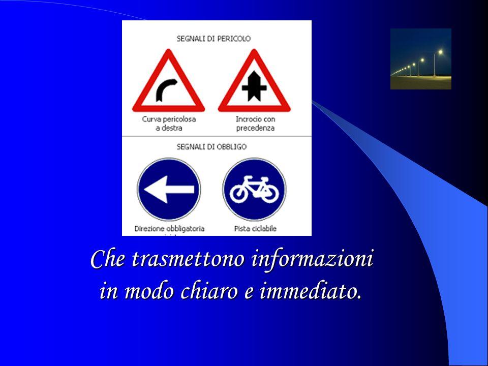 Occorre rispettare i segnali stradali..