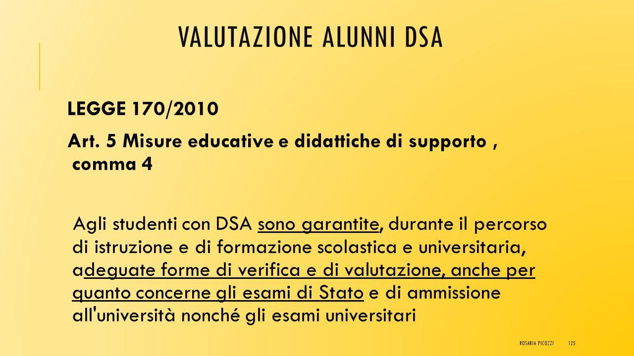 Valutazione alunni DSA ROSARIA PICOZZI124