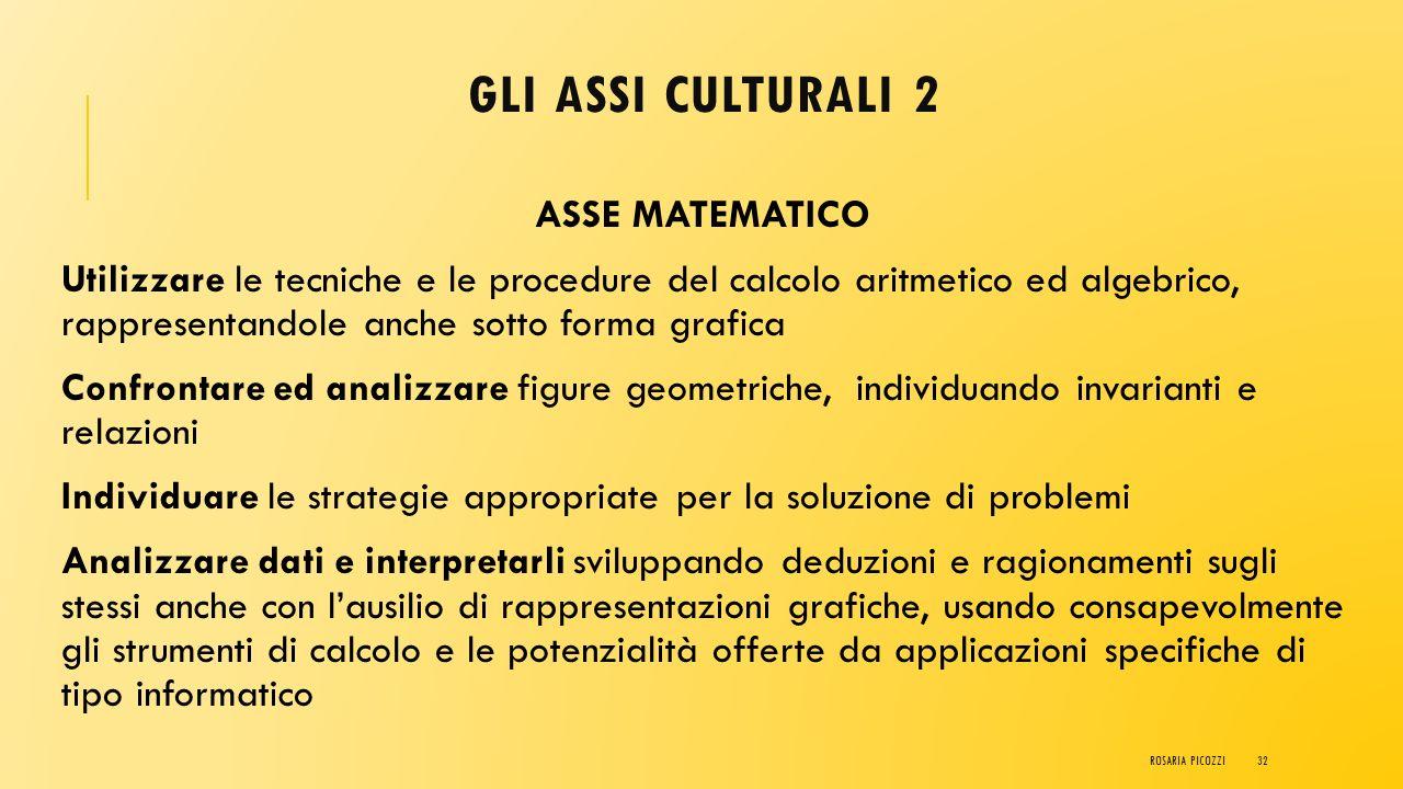 GLI ASSI CULTURALI 1 ASSE dei LINGUAGGI Padronanza della lingua italiana Utilizzare una lingua straniera per i principali scopi comunicativi ed operat