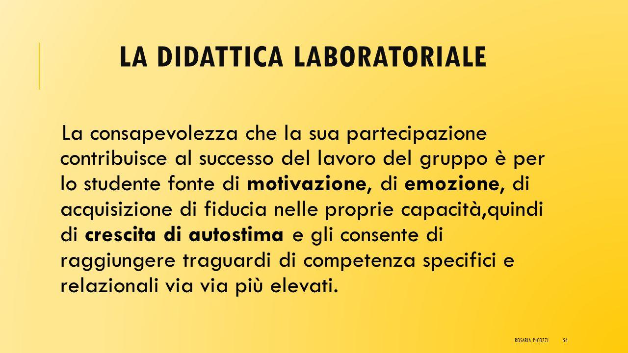 LA DIDATTICA LABORATORIALE Il ruolo di protagonista dello studente nella didattica laboratoriale lo educa progressivamente all'individuazione dei prob