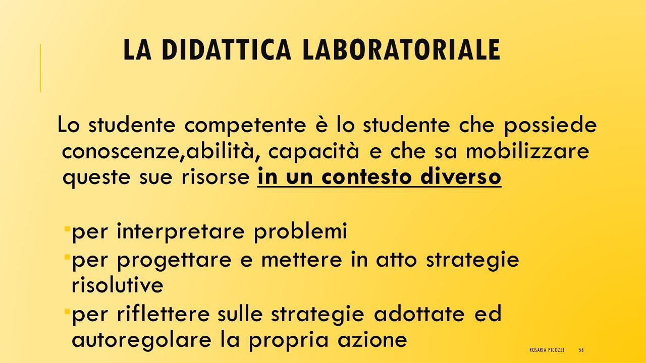 LA DIDATTICA LABORATORIALE L'uso di metodologie didattiche quali il Cooperative Learning e la Peer Education concorrono efficacemente ad educare lo st