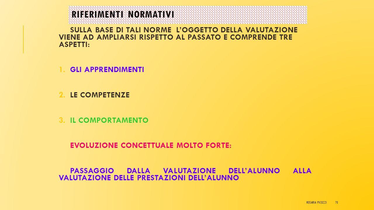 C.M. N°10 DEL 23 GENNAIO 2009 Criteri essenziali per una valutazione di qualità: 1.la finalità formativa 2.la validità, l'attendibilità, l'accuratezza