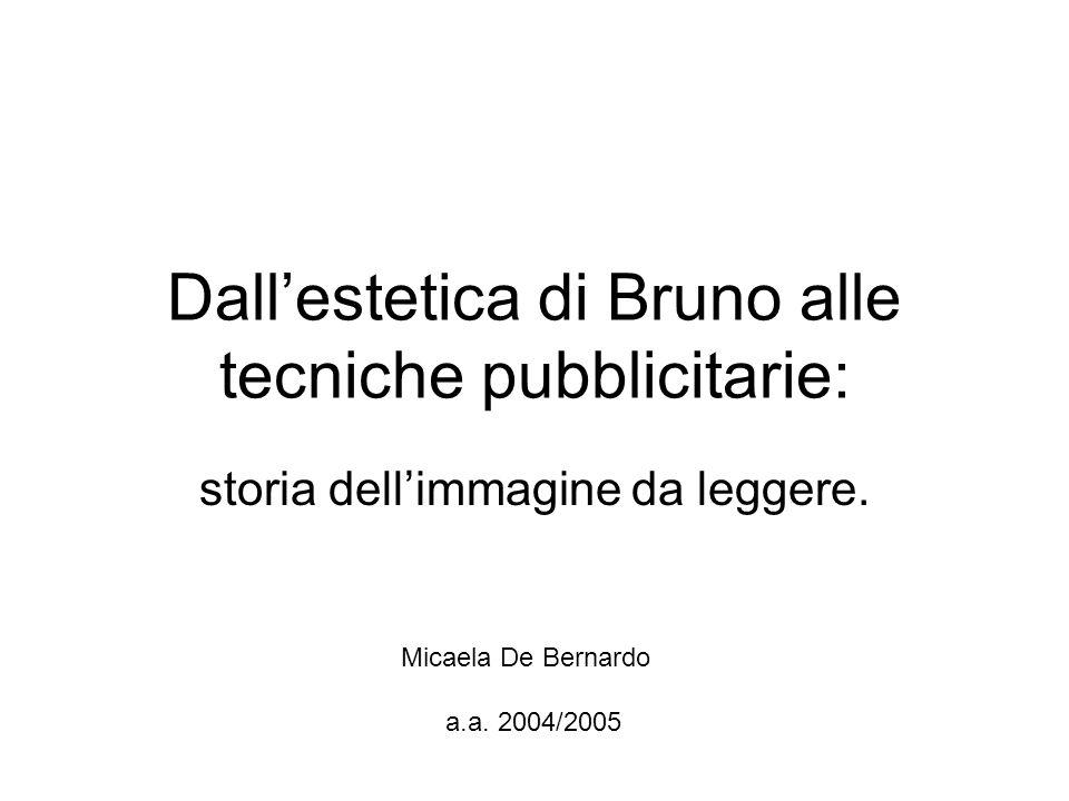 Dall'estetica di Bruno alle tecniche pubblicitarie: storia dell'immagine da leggere.