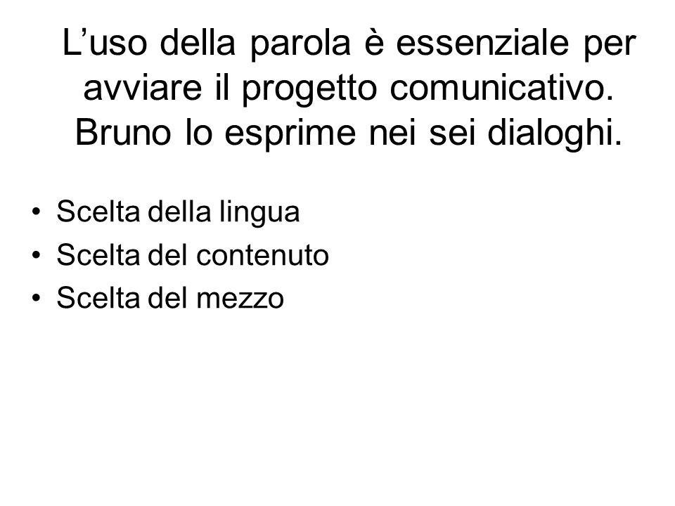 L'uso della parola è essenziale per avviare il progetto comunicativo.
