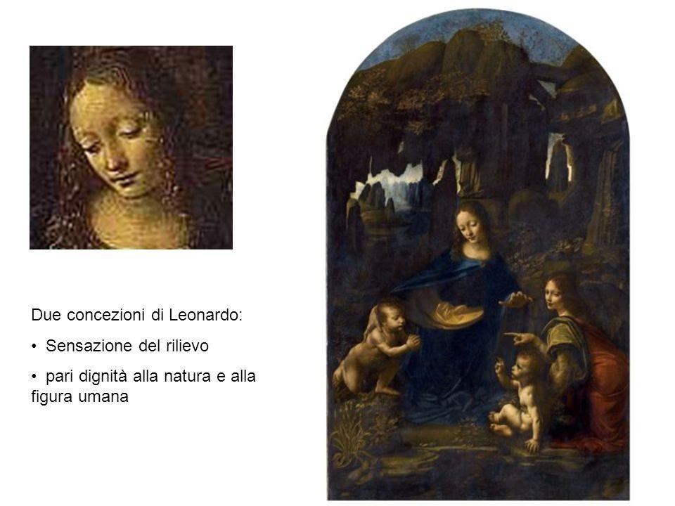 Due concezioni di Leonardo: Sensazione del rilievo pari dignità alla natura e alla figura umana