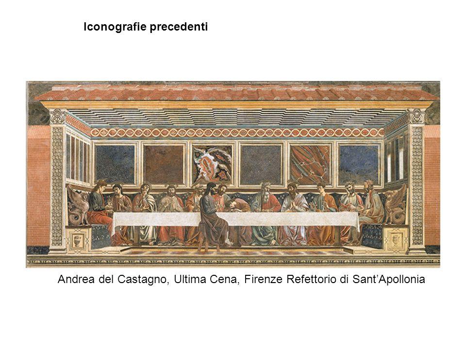 Iconografie precedenti Andrea del Castagno, Ultima Cena, Firenze Refettorio di Sant'Apollonia