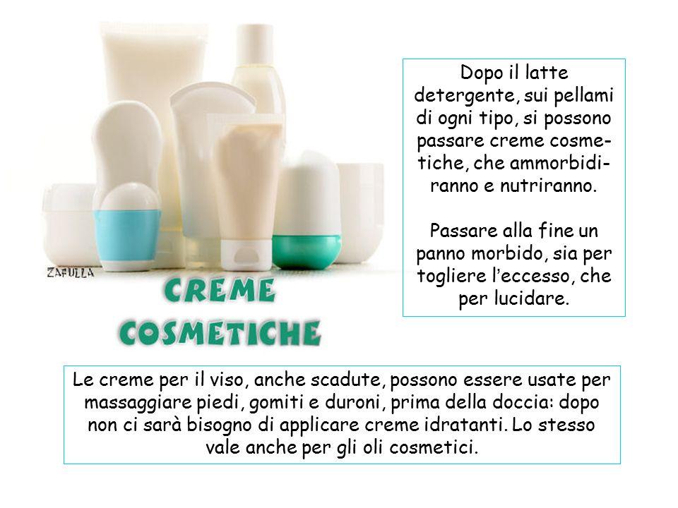 Il latte detergente, passato con un batuffolo di cotone, è un ottimo pulitore per pellami, siano scarpe, borse, valigie, sedie o divani, ecc..