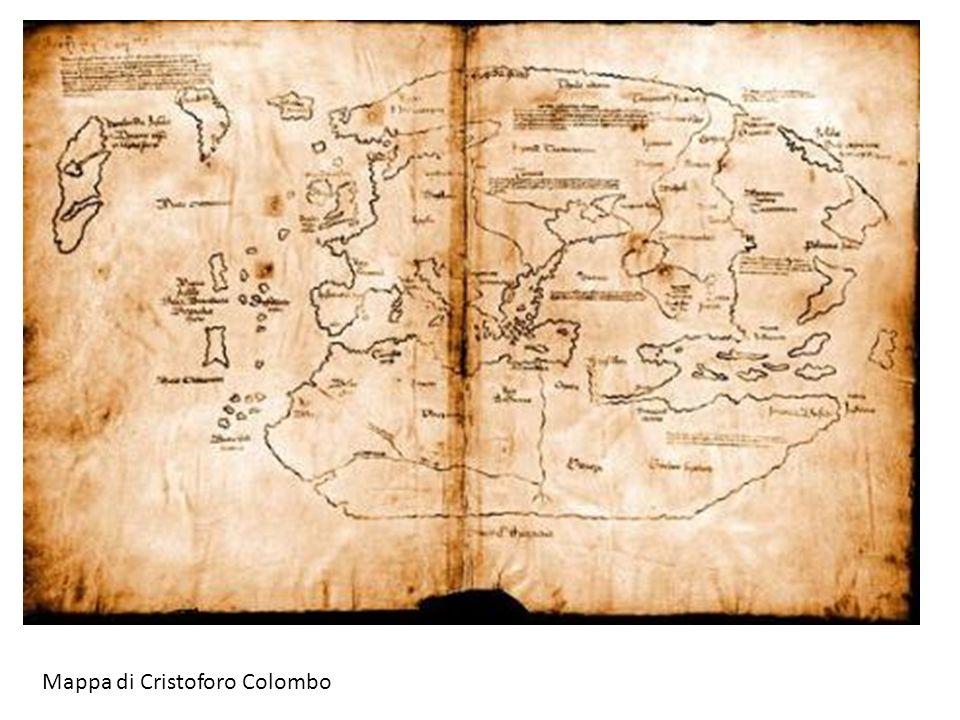 Mappa di Cristoforo Colombo