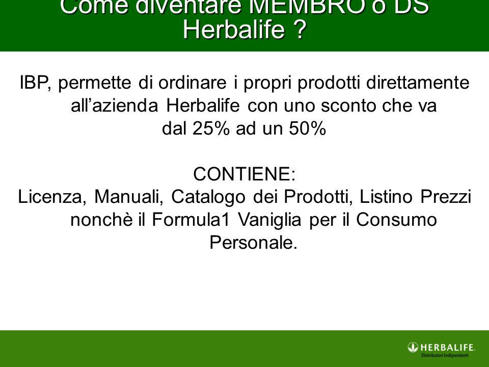 IBP, permette di ordinare i propri prodotti direttamente all'azienda Herbalife con uno sconto che va dal 25% ad un 50% CONTIENE: Licenza, Manuali, Cat