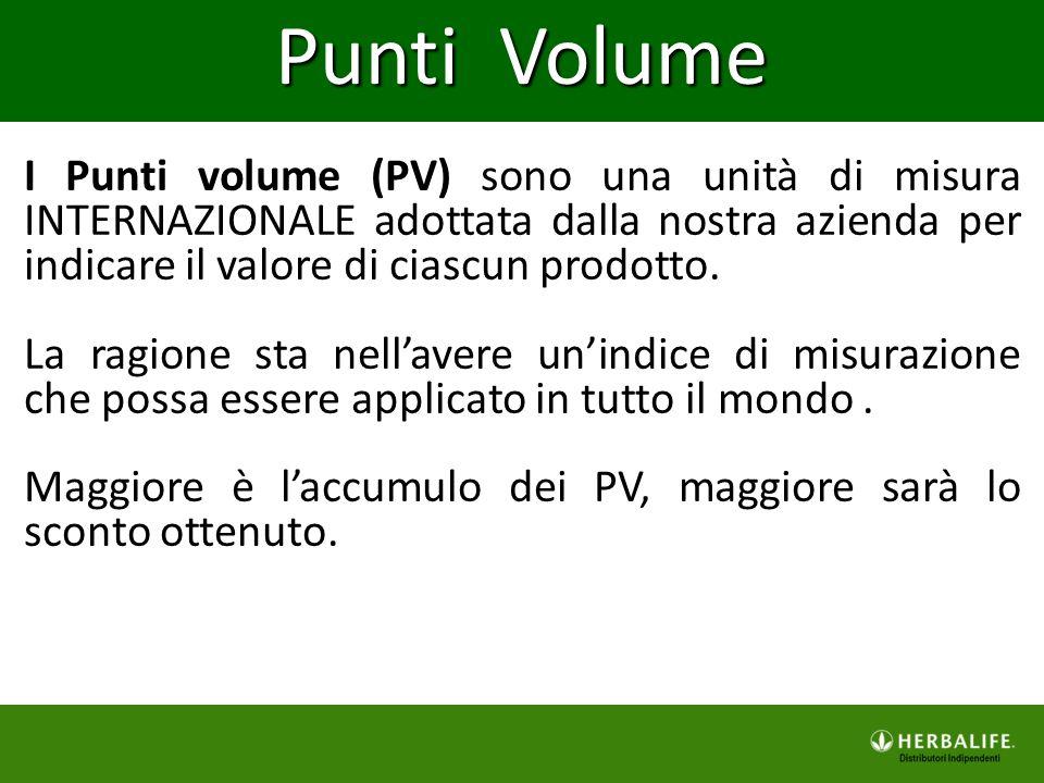 I Punti volume (PV) sono una unità di misura INTERNAZIONALE adottata dalla nostra azienda per indicare il valore di ciascun prodotto. La ragione sta n
