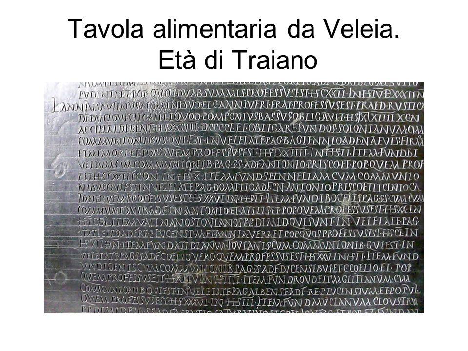 Tavola alimentaria da Veleia. Età di Traiano