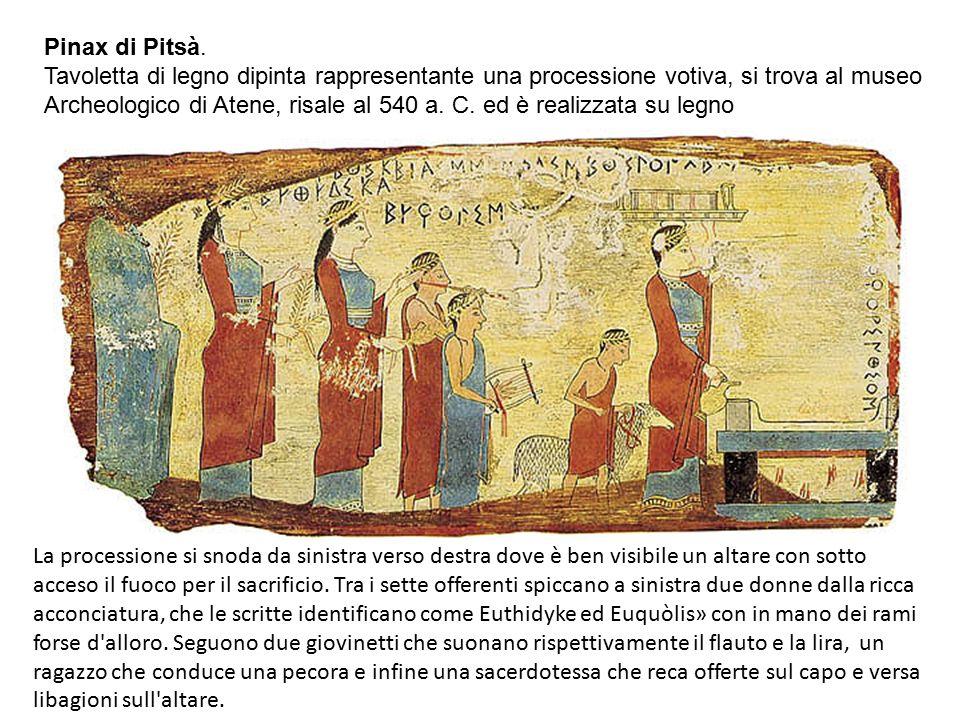 L ' unica fonte di informazione sulla pittura arcaica greca è la pittura vascolare.