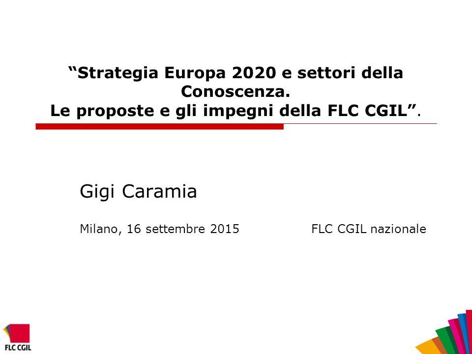 Strategia Europa 2020 e settori della Conoscenza.