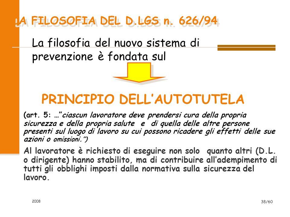 2008 38/60 PRINCIPIO DELL'AUTOTUTELA (art.