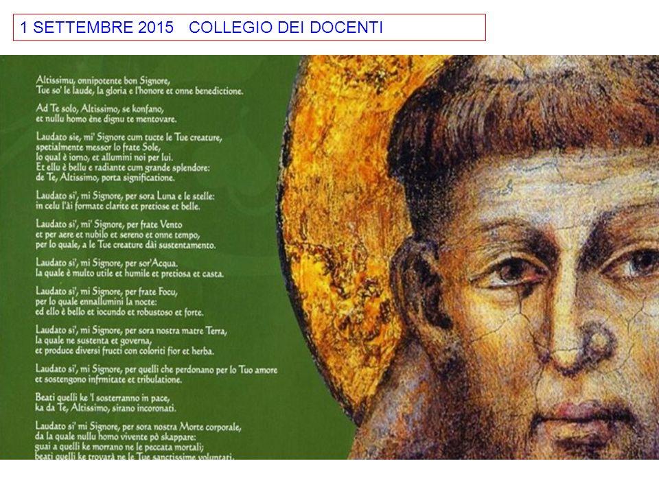 1 SETTEMBRE 2015 COLLEGIO DEI DOCENTI