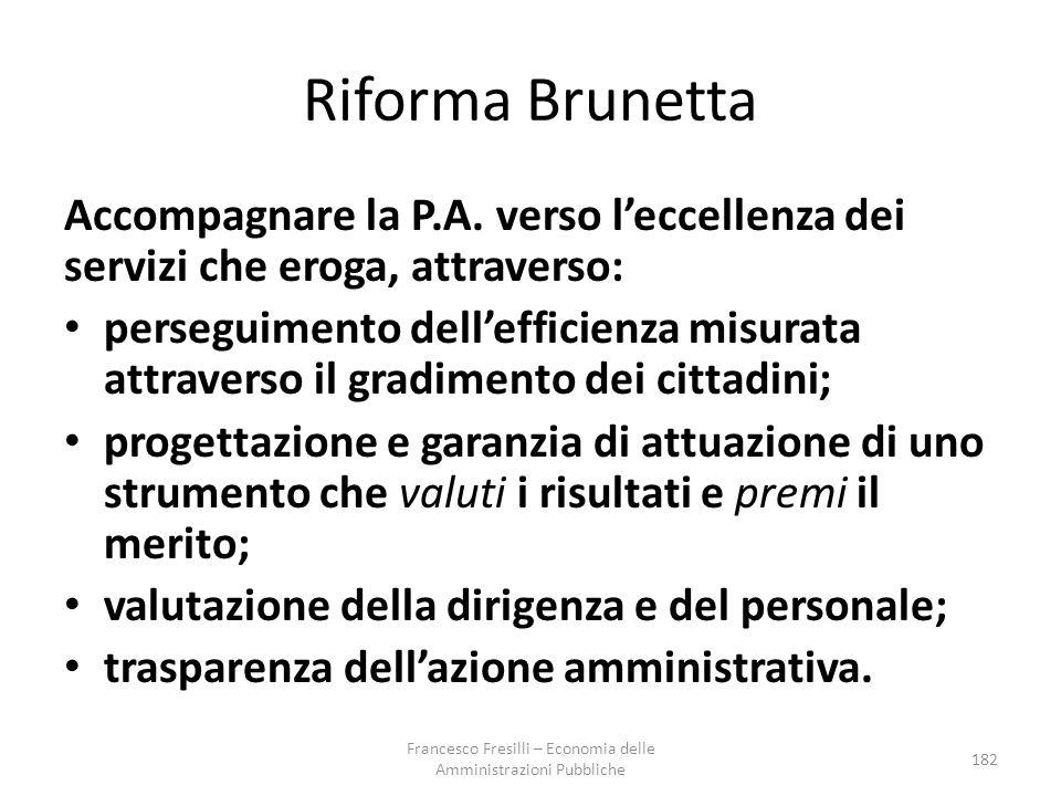 Riforma Brunetta Accompagnare la P.A.