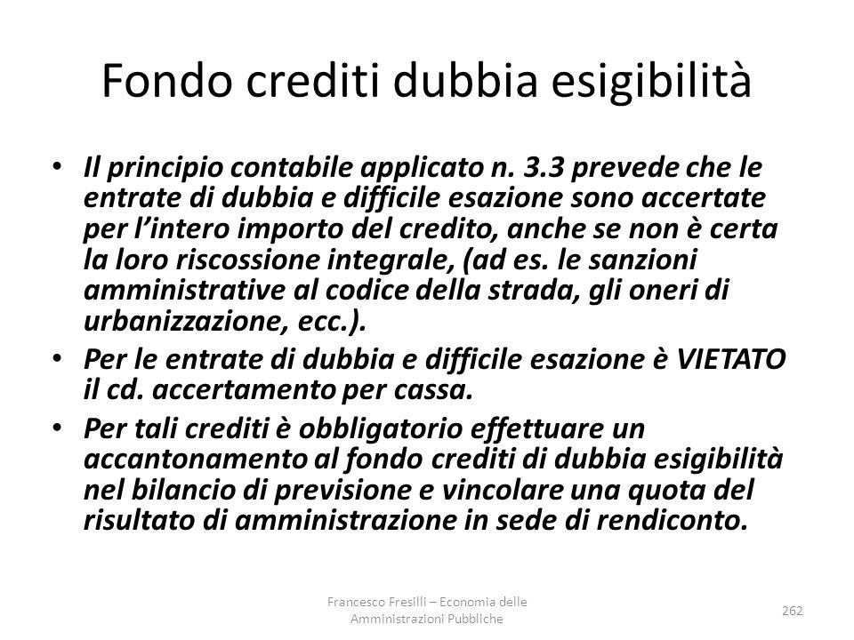 Fondo crediti dubbia esigibilità Il principio contabile applicato n.