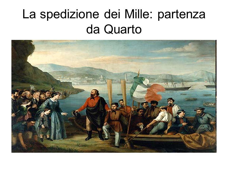 La spedizione dei Mille: partenza da Quarto