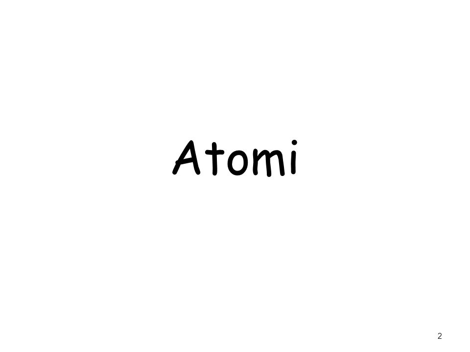 Iniziamo un percorso che ci porterà Dagli Atomi alle Particelle Elementari 13