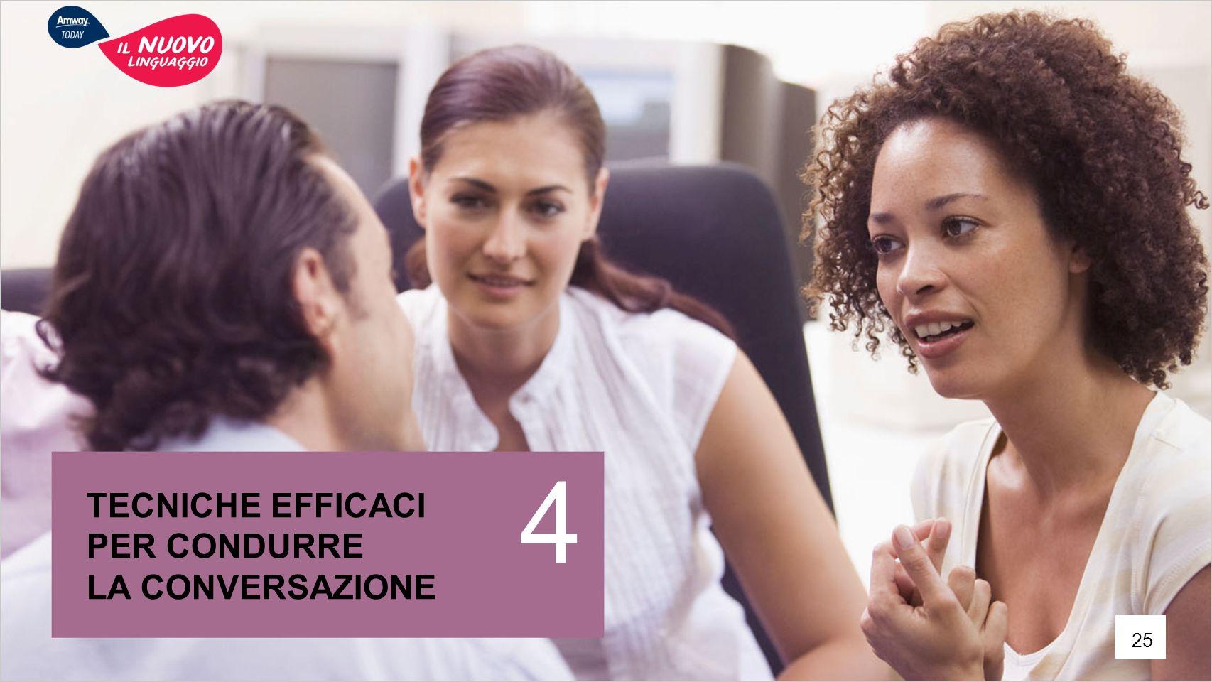 TECNICHE EFFICACI PER CONDURRE LA CONVERSAZIONE 4 25