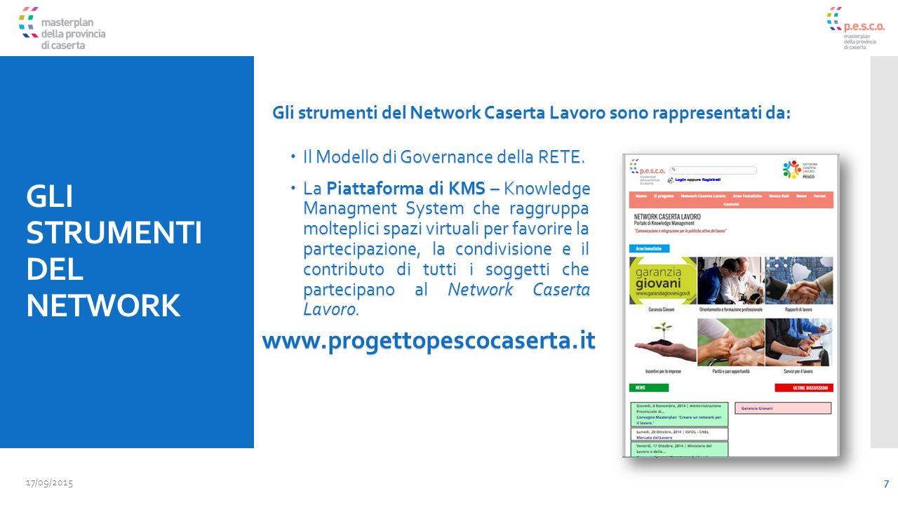 GLI STRUMENTI DEL NETWORK  Il Modello di Governance della RETE.