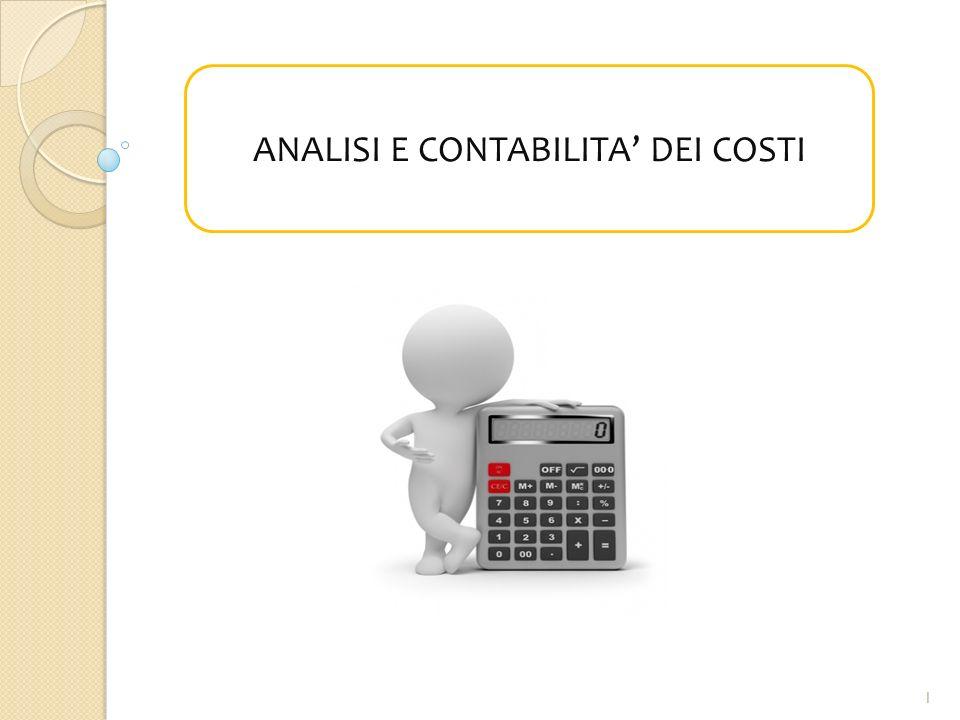 LE NOSTRE DOMANDE  Cosa è un costo. Per quale scopo analizziamo e calcoliamo i costi.