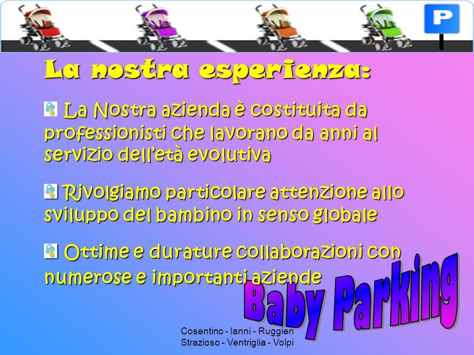 Cosentino - Ianni - Ruggieri Strazioso - Ventriglia - Volpi Organizzazione generale Baby Parking Bambini Impresa Impiegati