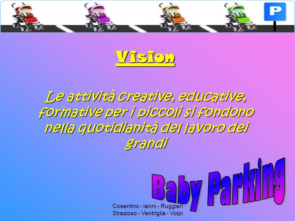 Cosentino - Ianni - Ruggieri Strazioso - Ventriglia - Volpi Mission Sostenere e stimolare lo sviluppo del bambino e la soddisfazione del genitore
