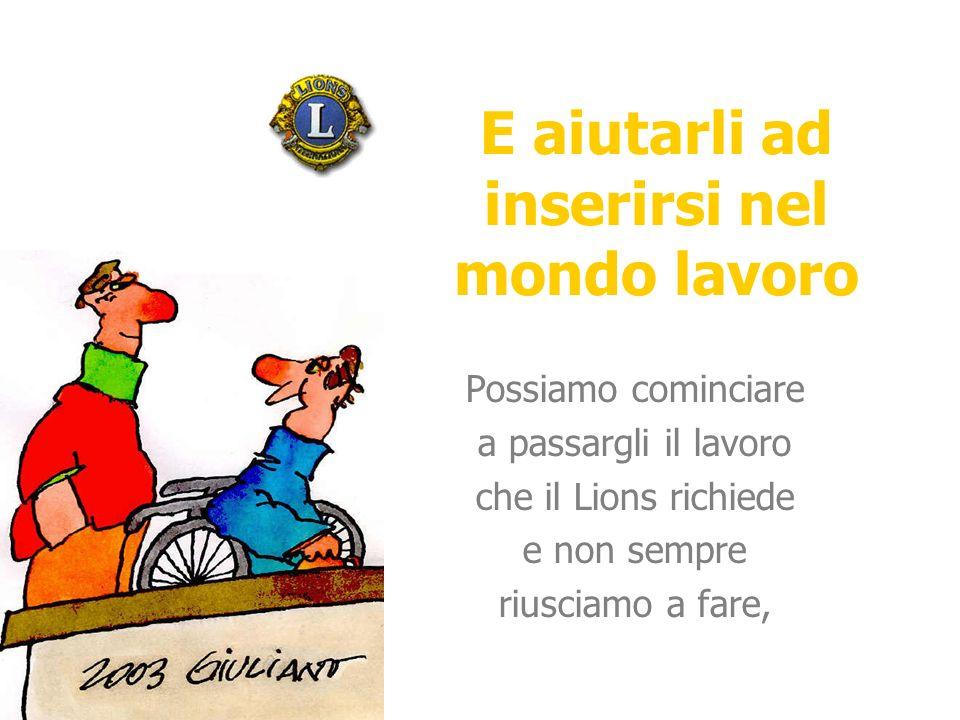 Facciamoci aiutare da un disabile.