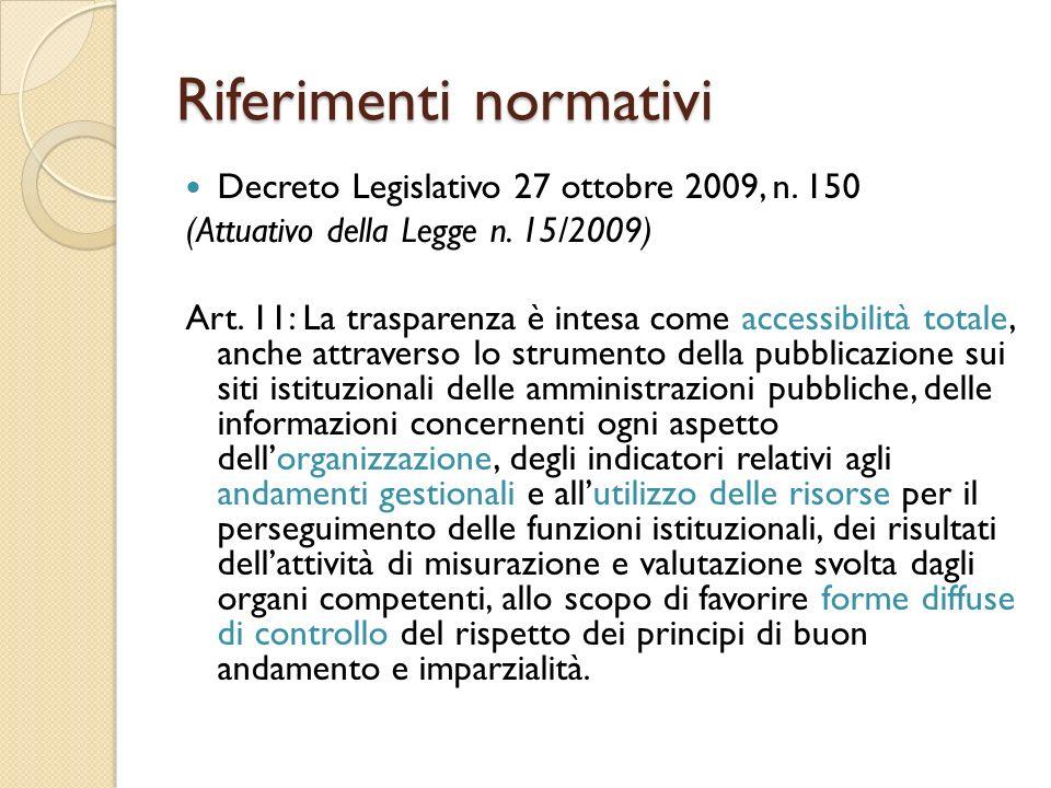 Riferimenti normativi Decreto Legislativo 27 ottobre 2009, n.