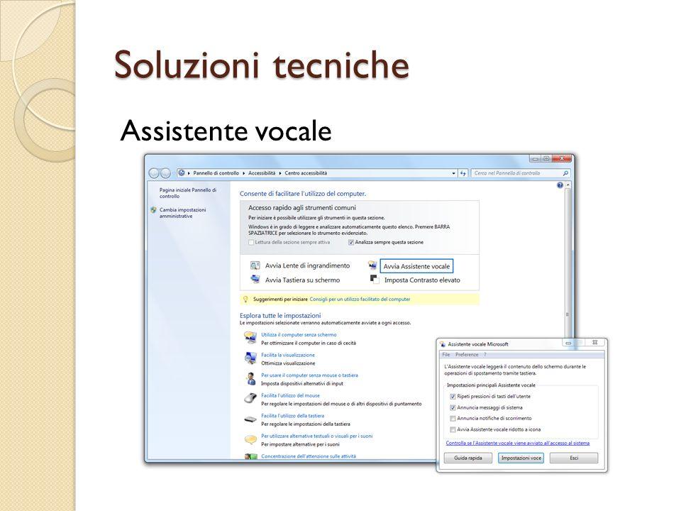 Soluzioni tecniche Assistente vocale