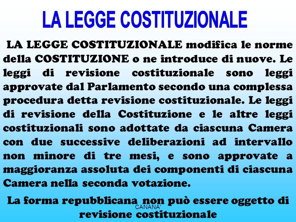 LA STRUTTURA DELLA COSTITUZIONE ITALIANA La Costituzione Italiana è composta da 139 articoli ed è divisa in due parti, precedute dai Principi fondamen