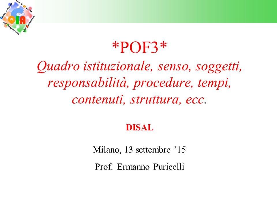 *POF3* Quadro istituzionale e senso