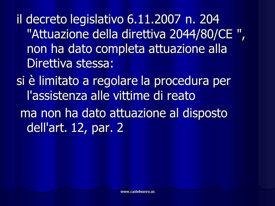 www.castelnuovo.us il decreto legislativo 6.11.2007 n. 204