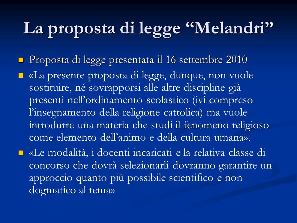 """La proposta di legge """"Melandri"""" Proposta di legge presentata il 16 settembre 2010 Proposta di legge presentata il 16 settembre 2010 «La presente propo"""