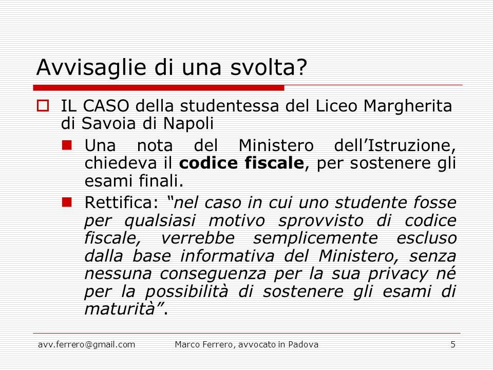 avv.ferrero@gmail.comMarco Ferrero, avvocato in Padova6 Obbligo di esibizione dei documenti alla P.A.