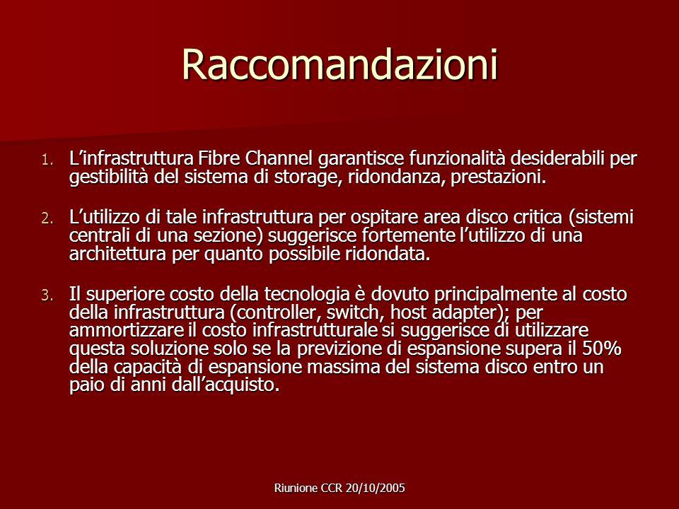 Riunione CCR 20/10/2005 Raccomandazioni 1.