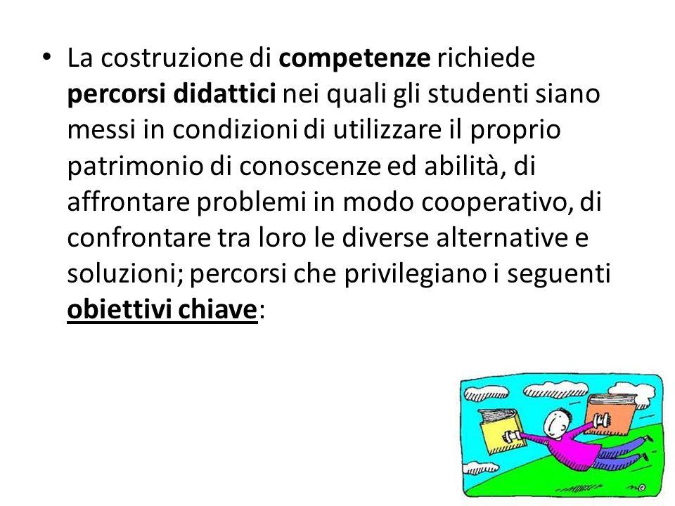 La costruzione di competenze richiede percorsi didattici nei quali gli studenti siano messi in condizioni di utilizzare il proprio patrimonio di conos