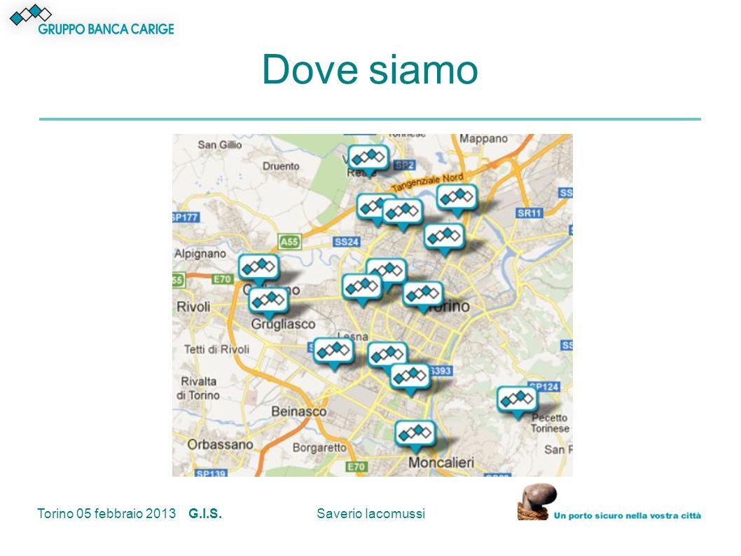 Torino 05 febbraio 2013 G.I.S.Saverio Iacomussi Dove siamo