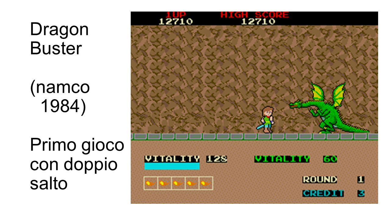 Dragon Buster (namco 1984) Primo gioco con doppio salto