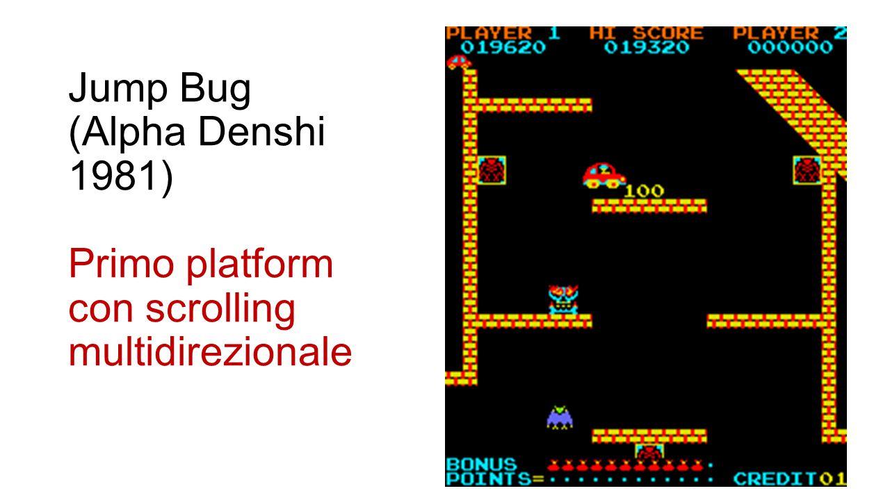 Jump Bug (Alpha Denshi 1981) Primo platform con scrolling multidirezionale